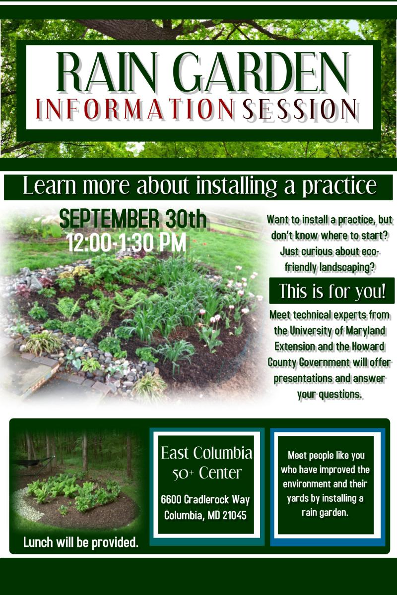 Rain garden information session